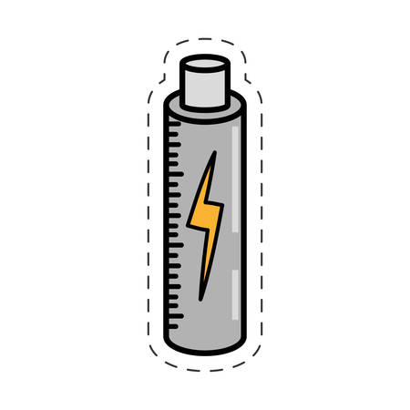 cartoon battery charging power image vector illustration eps 10