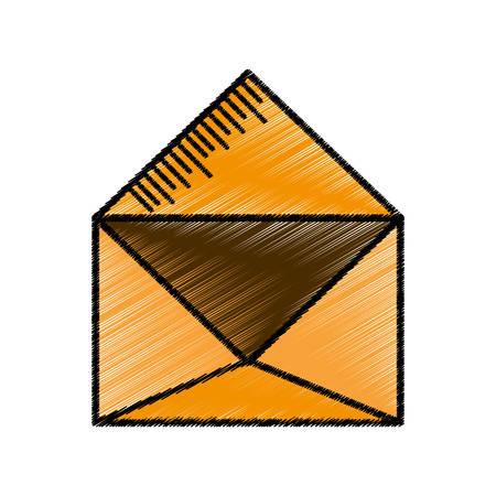 message email envelope sketch vector illustration eps 10 Ilustração