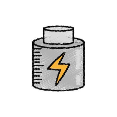 battery charging power sketch vector illustration eps 10