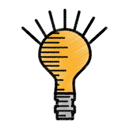 bulb light electricity sketch vector illustration eps 10 Illustration
