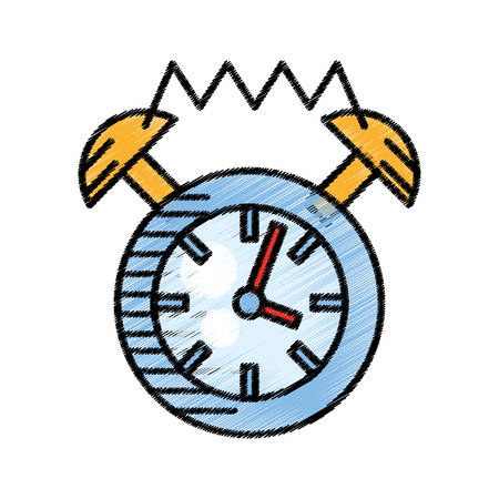 clock alarm watch time sketch vector illustration eps 10