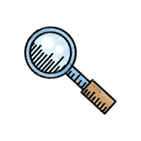 search loupe find internet sketch vector illustration eps 10