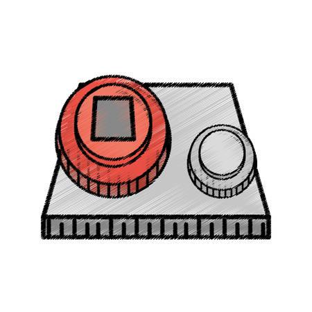 start power system sketch vector illustration eps 10