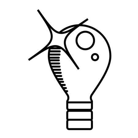 bulb light electricity outline vector illustration eps 10 Ilustração
