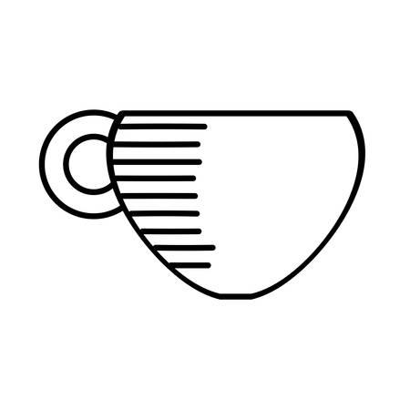 coffee cup hot beverage outline vector illustration eps 10 Ilustração