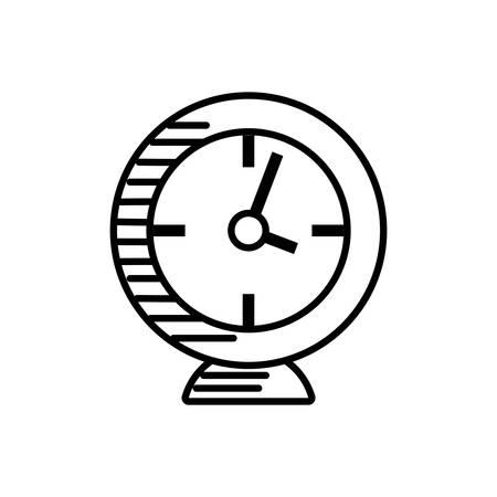 clock alarm watch outline vector illustration