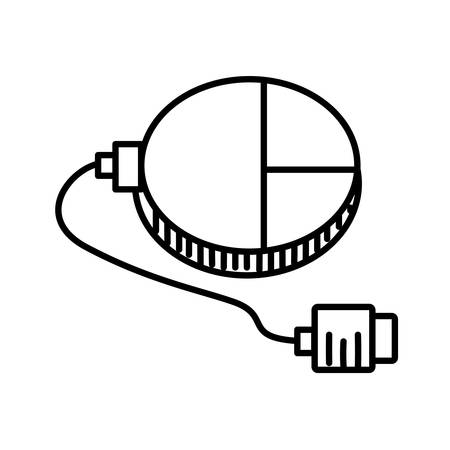 mouse connection usb outline vector illustration Illustration