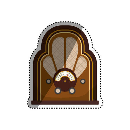Vintage radio stereo icon vector illustration graphic design