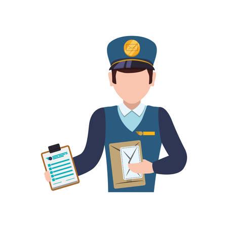 post man: Mailman delivery service icon vector illustration graphic design