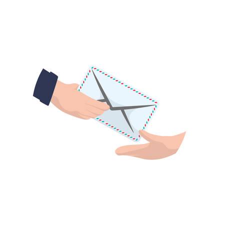 Mailman delivery service icon vector illustration graphic design