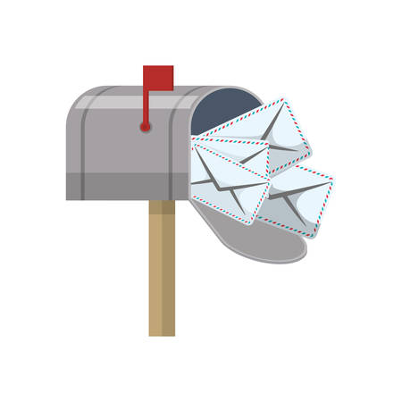 Mail delivery service icon vector illustration graphic design Illustration