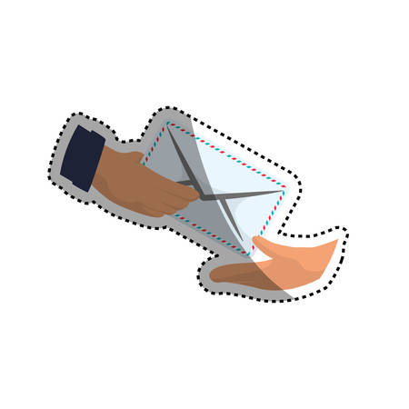 deliver: Mail delivery service icon vector illustration graphic design Illustration