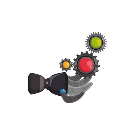 Colorful humanoid arm technology icon vector illustration graphic design Illustration