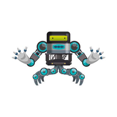 computer operator: Mechanical  machine technology icon vector illustration graphic design Illustration