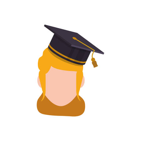 blondie: Young student profile icon vector illustration graphic design Illustration