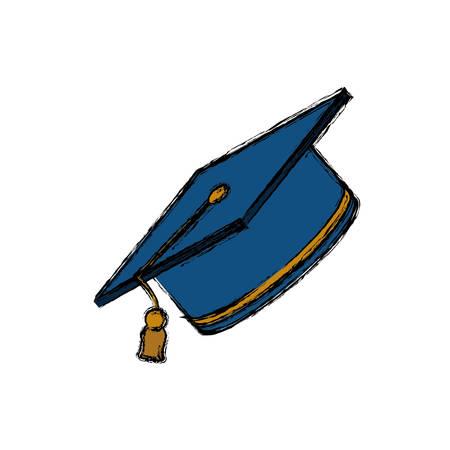 science class: Student graduation hat icon vector illustration graphic design