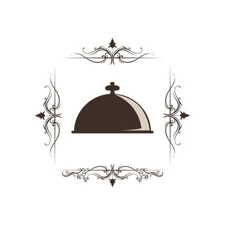 Restaurant and kitchen utensil icon vector illustration graphic design