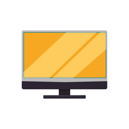 lcd: Modern tv technology icon vector illustration graphic design Illustration