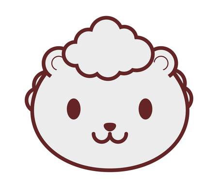 sheep icon over white background. vector illustration Illustration