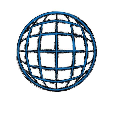 global ilustración vectorial esfera símbolo del icono del diseño gráfico