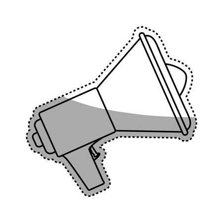 Megaphone or bullhorn symbol icon vector illustration graphic design