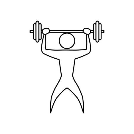 aerobic training: Gym and fitness lifestyle icon vector illustration graphic design
