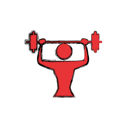 Gym and fitness lifestyle icon vector illustration graphic design