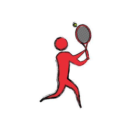 aerobic training: Sport game abstract man silhouette icon vector illustration graphic design Illustration