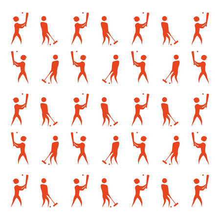 Sport game abstract man silhouette icon vector illustration graphic design Illustration