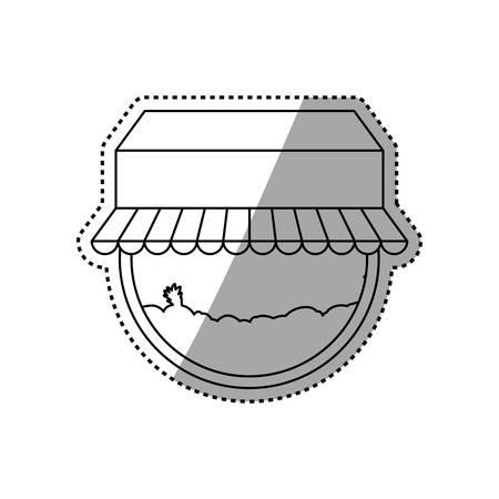 shopping center interior: Store shop building icon vector illustration graphic design