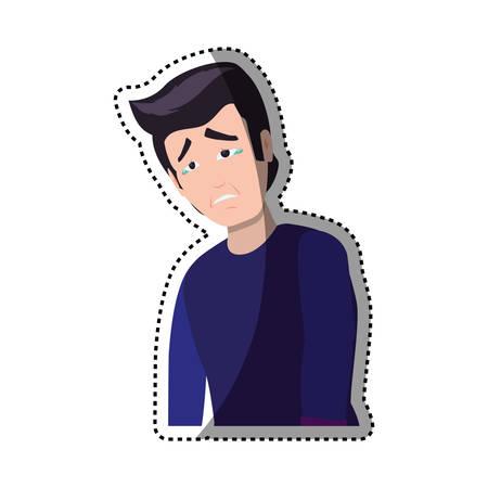 sad businessman: Sad cartoon face icon vector illustration graphic design