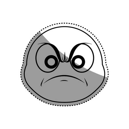 Angry cartoon face icon vector illustration graphic design