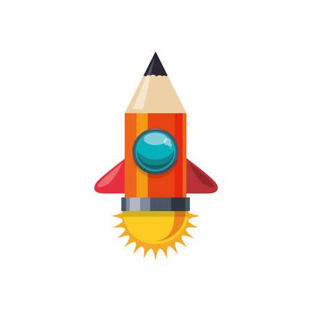 Pencil and education icon vector illustration graphic design Illustration