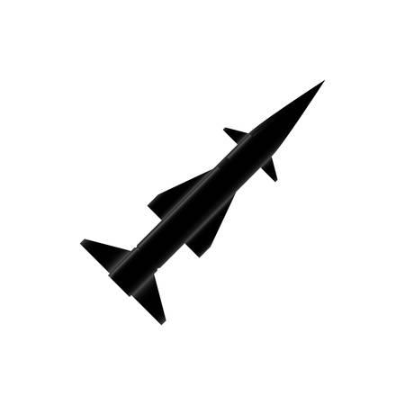 Misiles icono del arma de cohete ilustración vectorial diseño gráfico