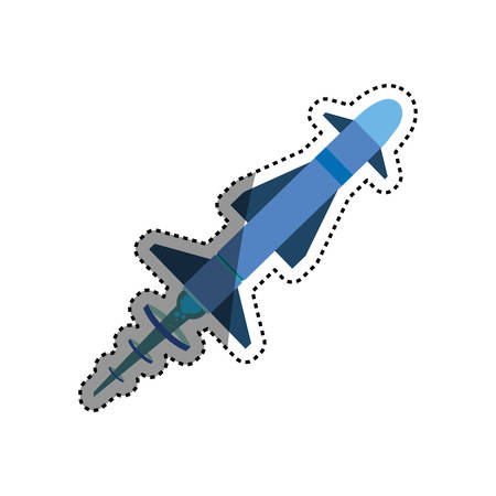 Missile rocket weapon icon vector illustration graphic design