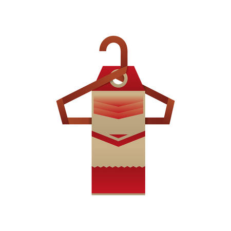 clothing rack: Fashion hanger symbol icon vector illustration graphic design