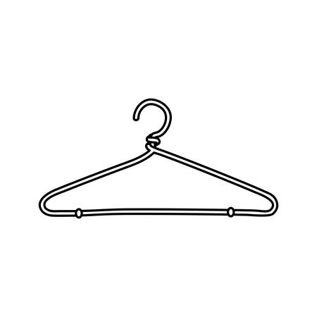 Fashion hanger symbol icon vector illustration graphic design