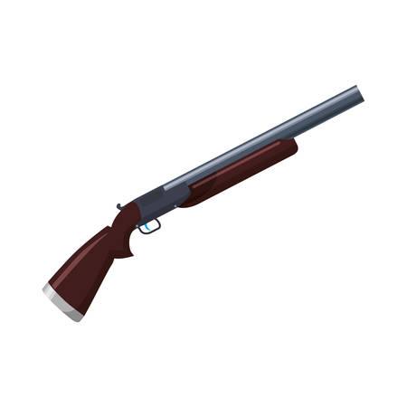 Geïsoleerde shotgun wapen vector illustratie grafisch ontwerp