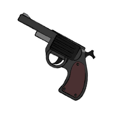 Isolated handgun weapon vector illustration graphic design