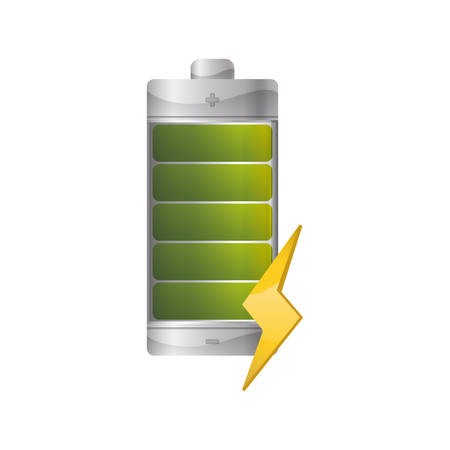 Electric battery rechargeable vector illustration graphic design