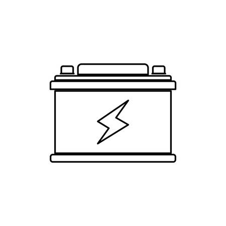 energetics: Battery car isolated vector illustration graphic design Illustration