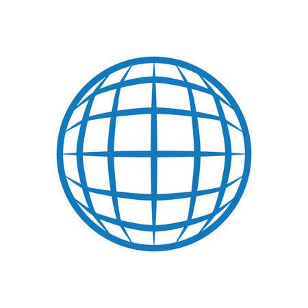 Global online connection vector illustration graphic design