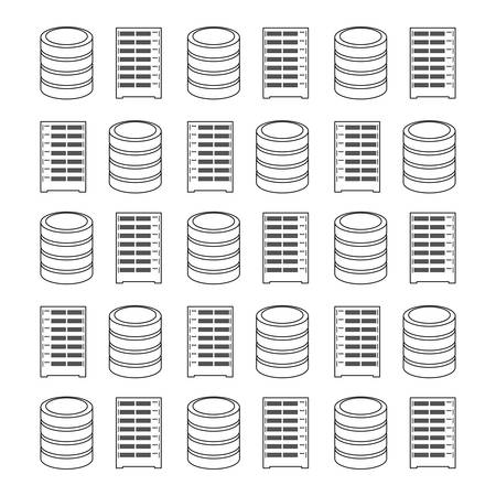 storage: Storage database computer icon vector illustration graphic design