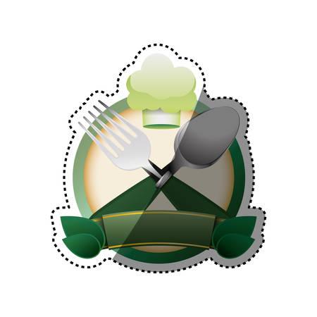 Healthy food restaurant icon vector illustration graphic design