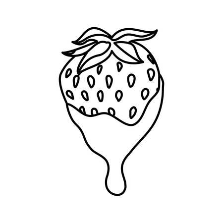 Delicious chocolate dessert icon vector illustration graphic design on white concept.