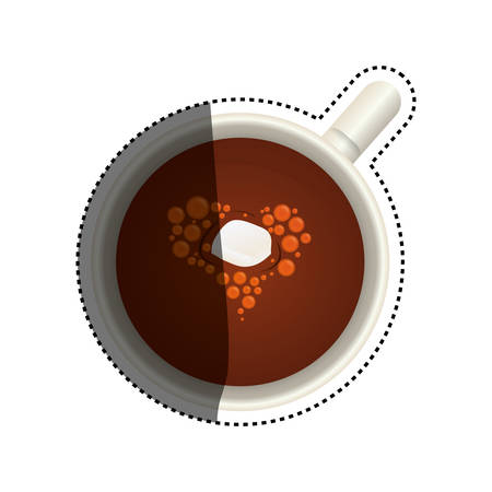 sugar cube: Hot chocolate beverage icon vector illustration graphic design on a cup. Illustration