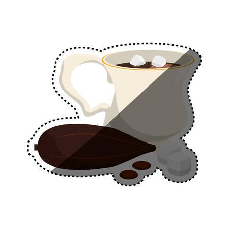 Hot chocolate beverage icon vector illustration graphic design
