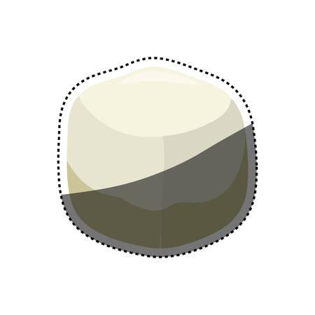 sugar cube: Sweet sugar cube icon vector illustration graphic design