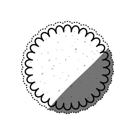 indulgence: Cookie delicious snack icon vector illustration graphic design Illustration