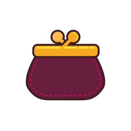 billfold: Pocketbook purse isolated icon vector illustration graphic design